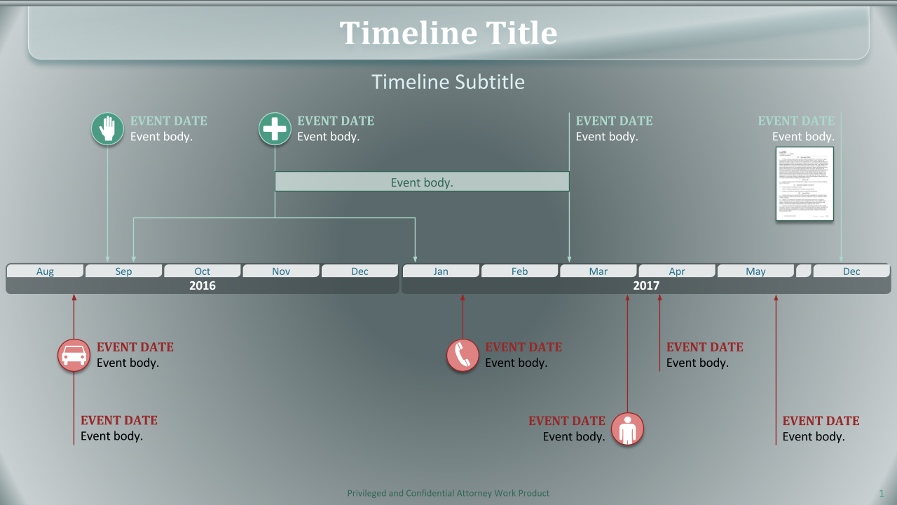 Timeline theme green 2 series