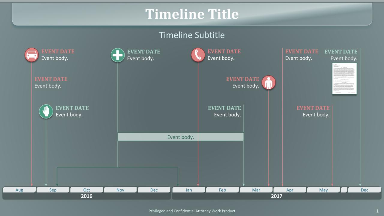 Timeline green grey